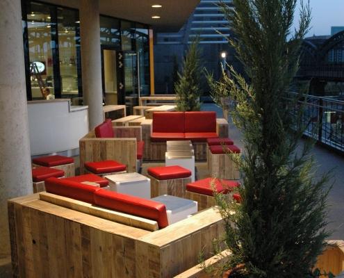 Möbeldesign Cafe Außenbereich